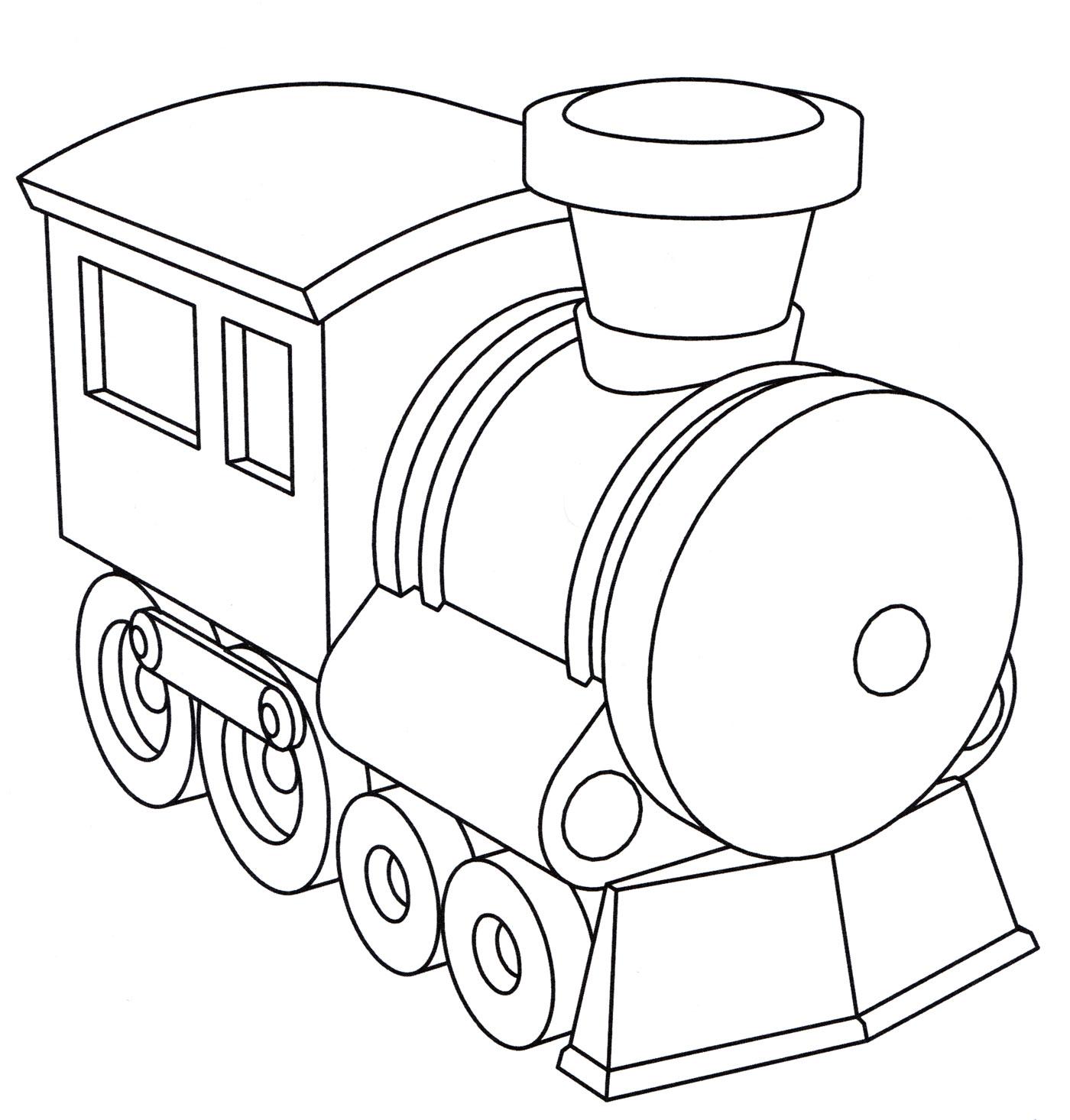 Раскраска Игрушечный паровоз, распечатать бесплатно или ...