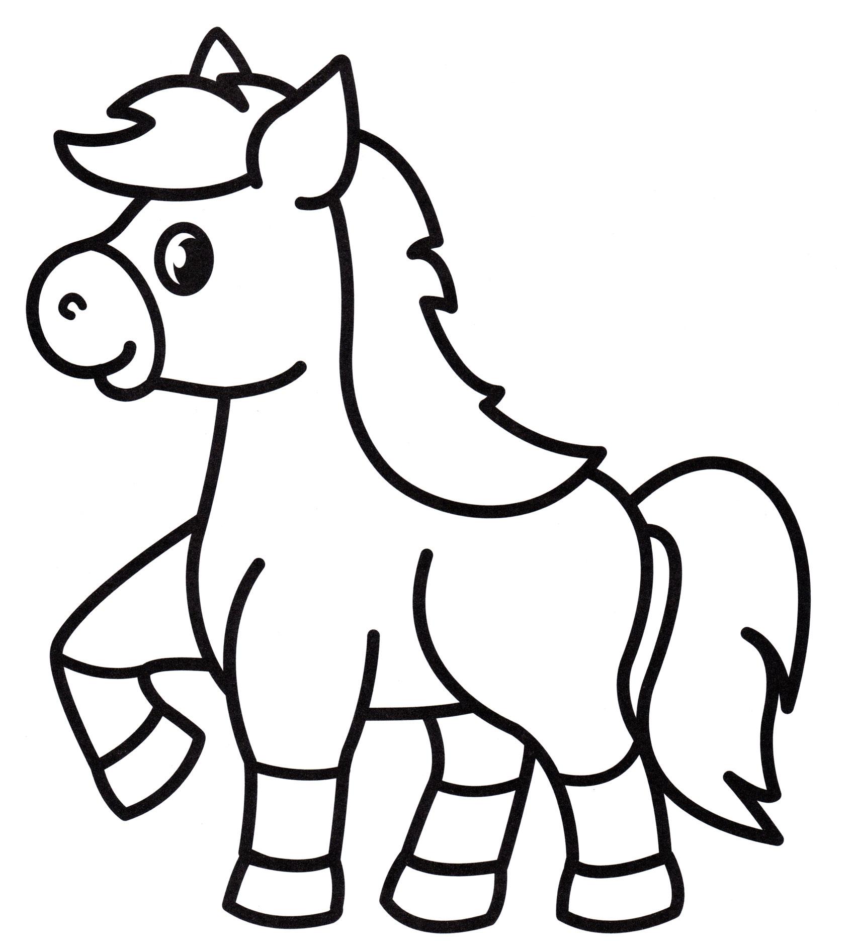 Раскраска Игривая лошадка, распечатать бесплатно или скачать