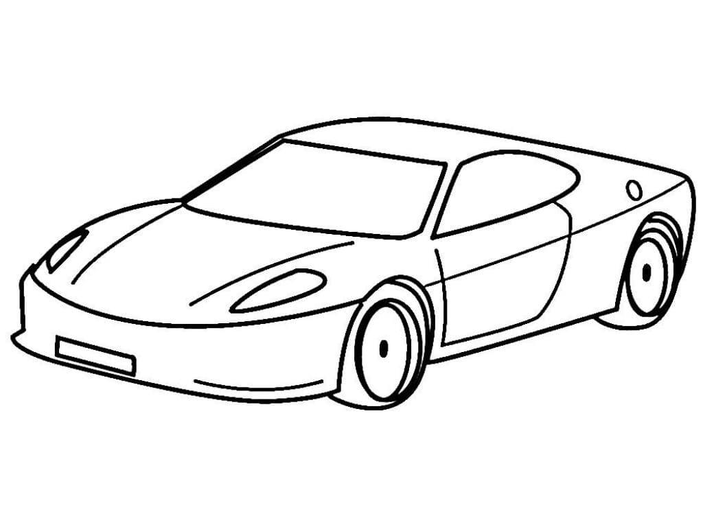 Раскраска Спортивный автомобиль
