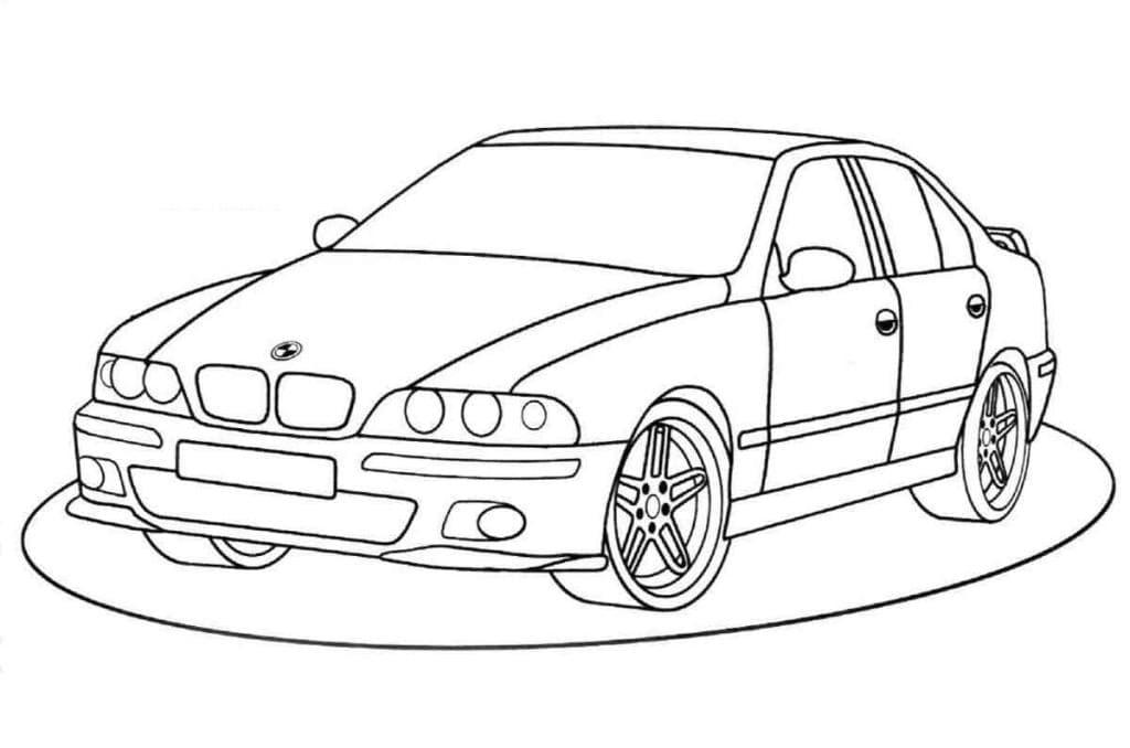 Раскраска Автомобиль БМВ