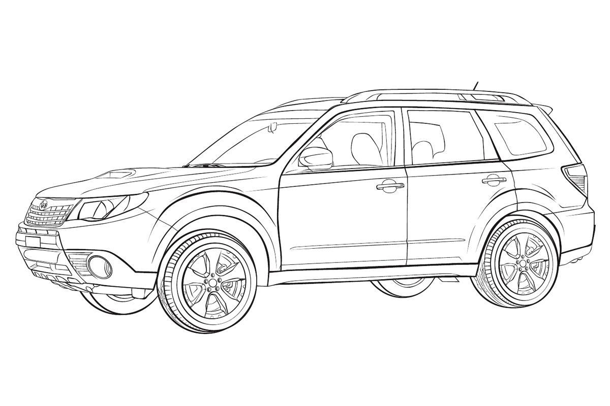 Раскраска Subaru Forester