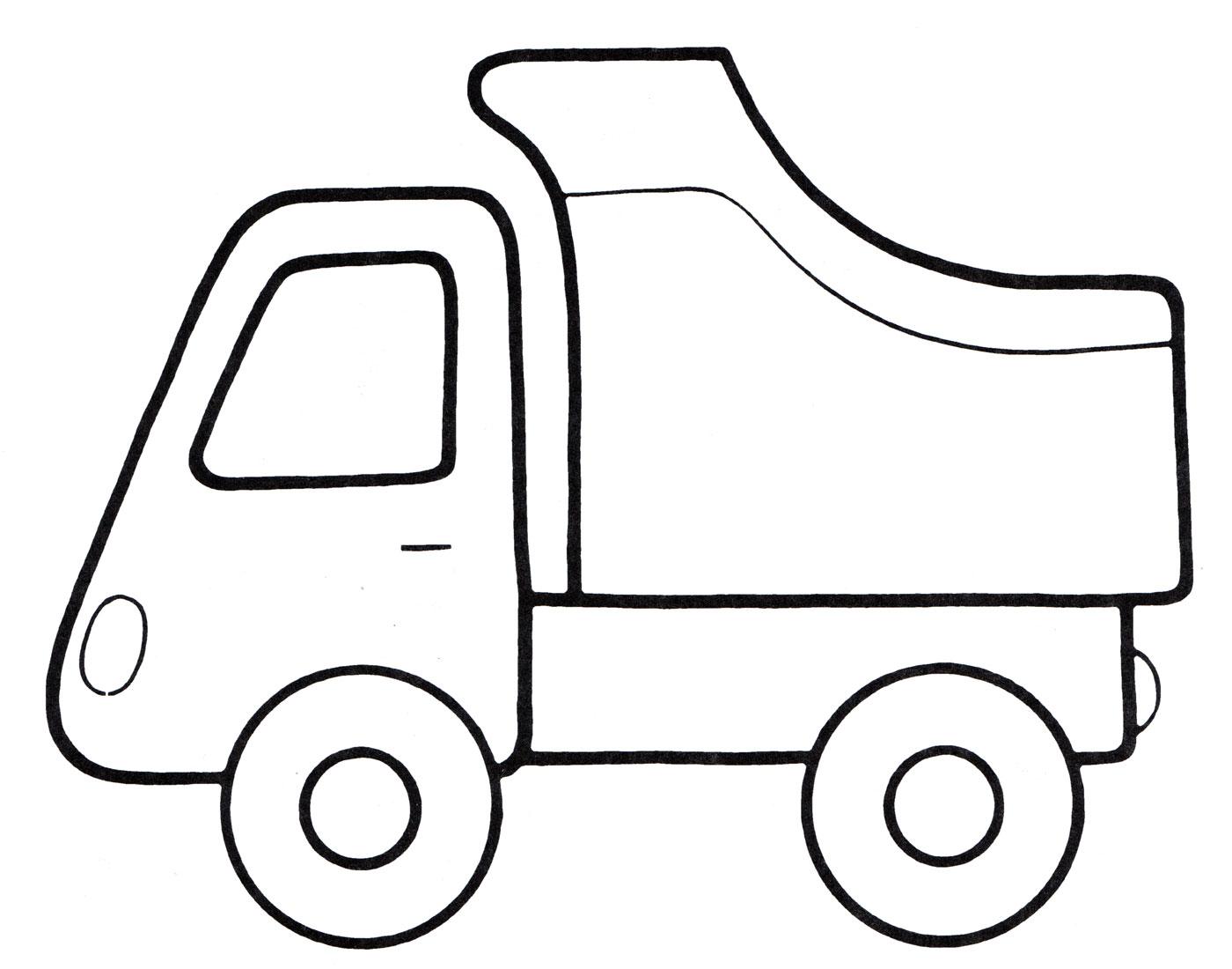 Раскраска Машина-самосвал