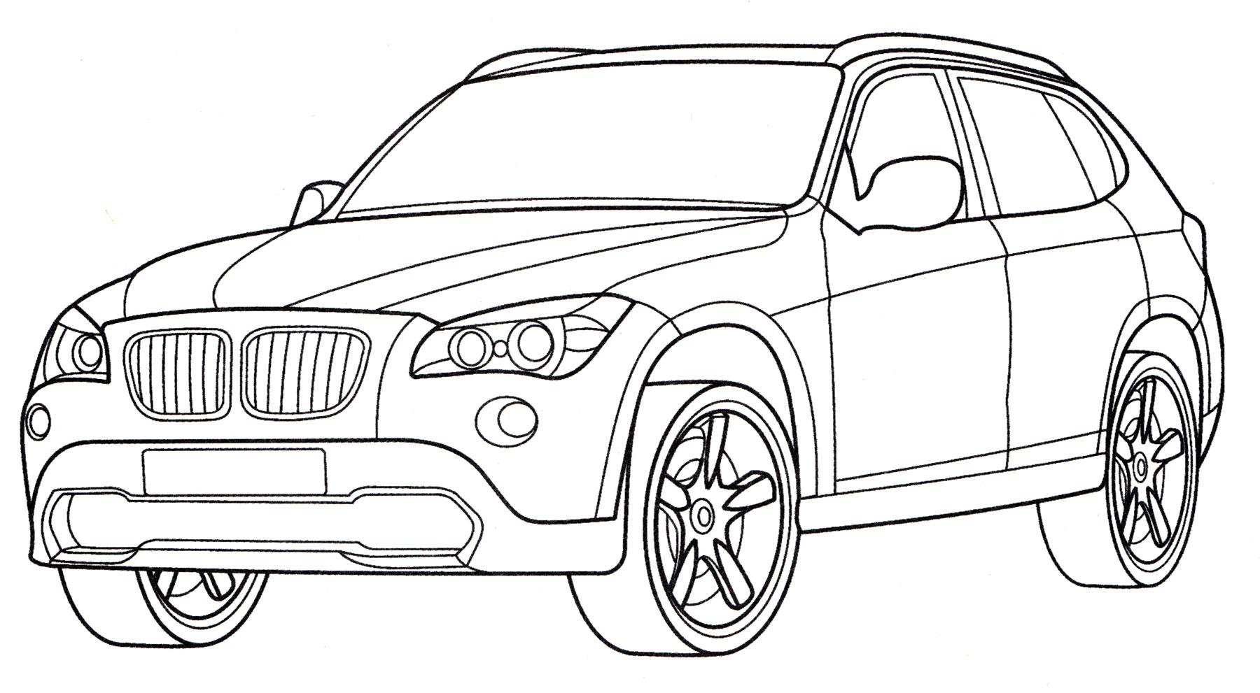 Раскраска БМВ X1