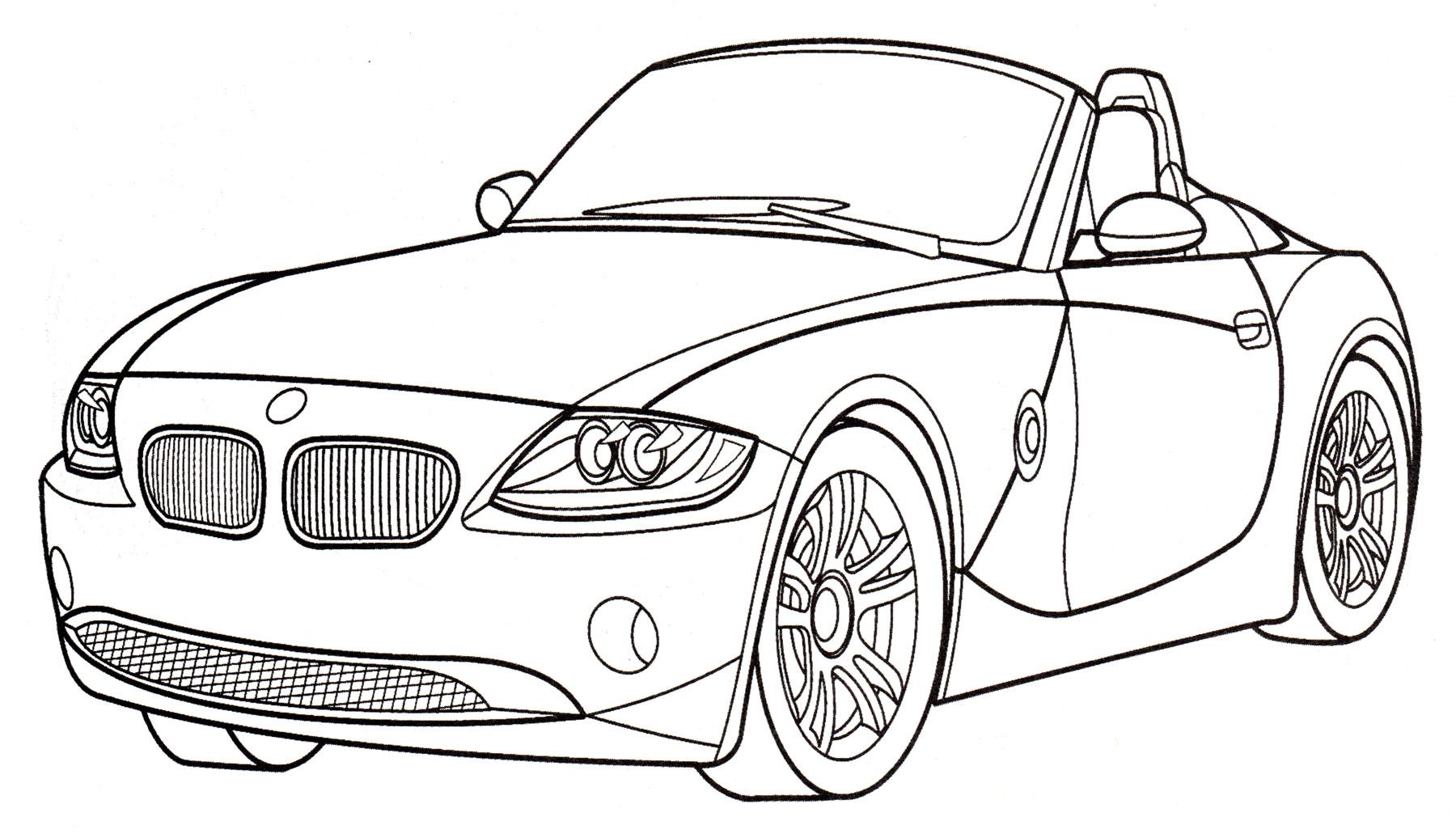 Раскраска БМВ Z4