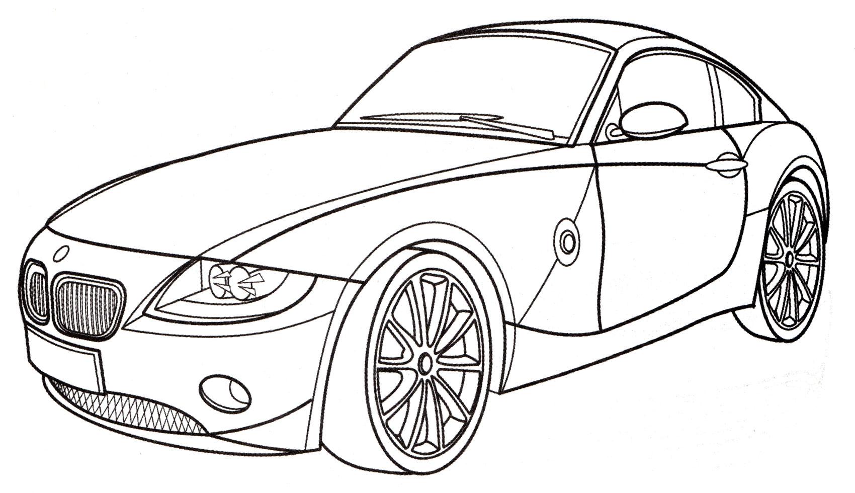 Раскраска БМВ Z4 Roadster