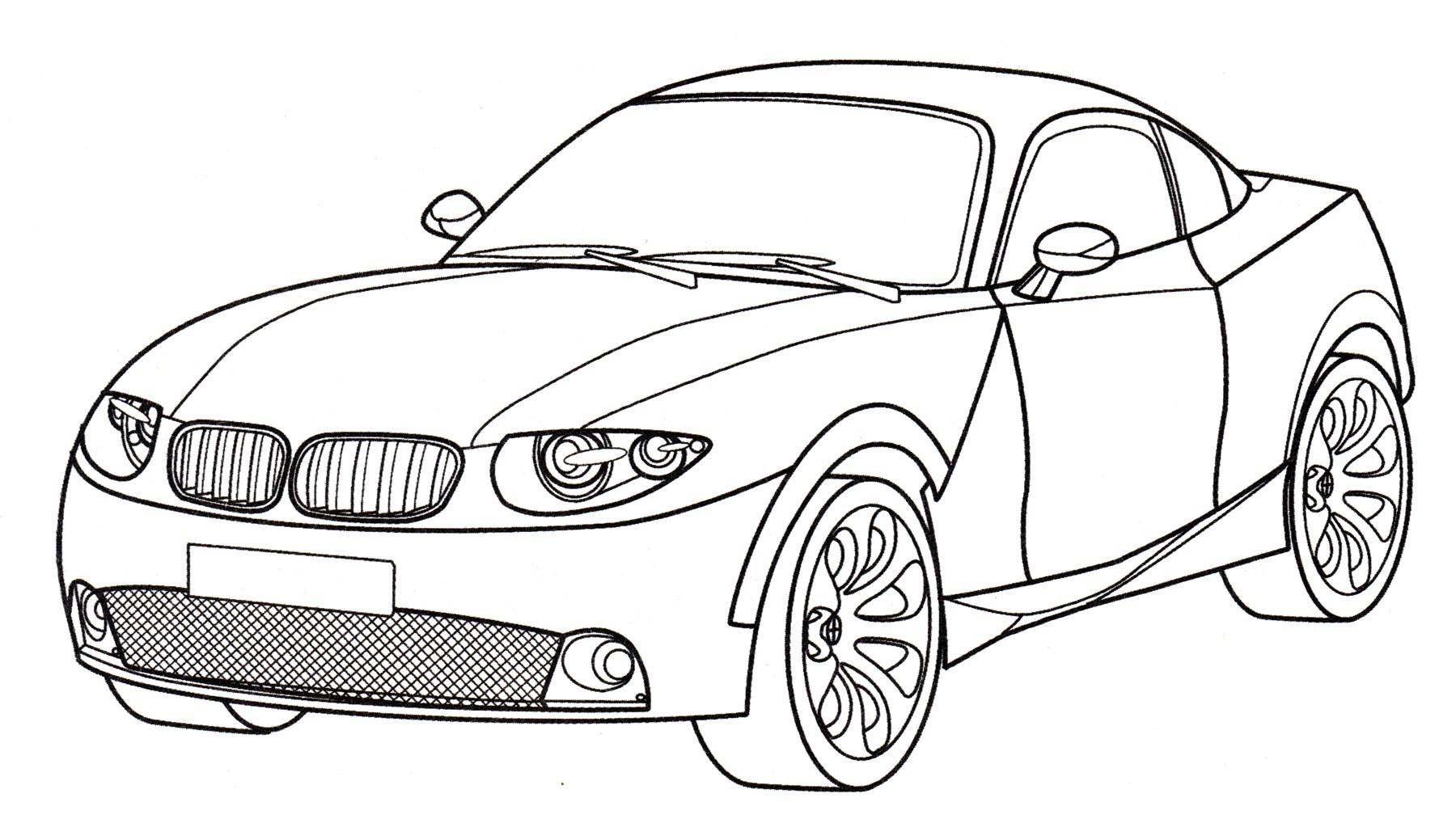 Раскраска БМВ X Coupe