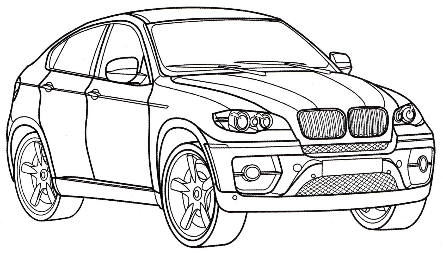 Раскраска БМВ X6