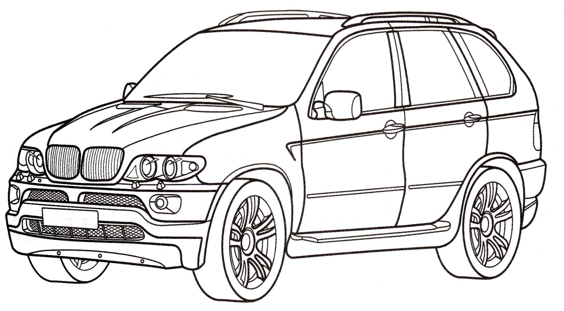 Раскраска БМВ X5