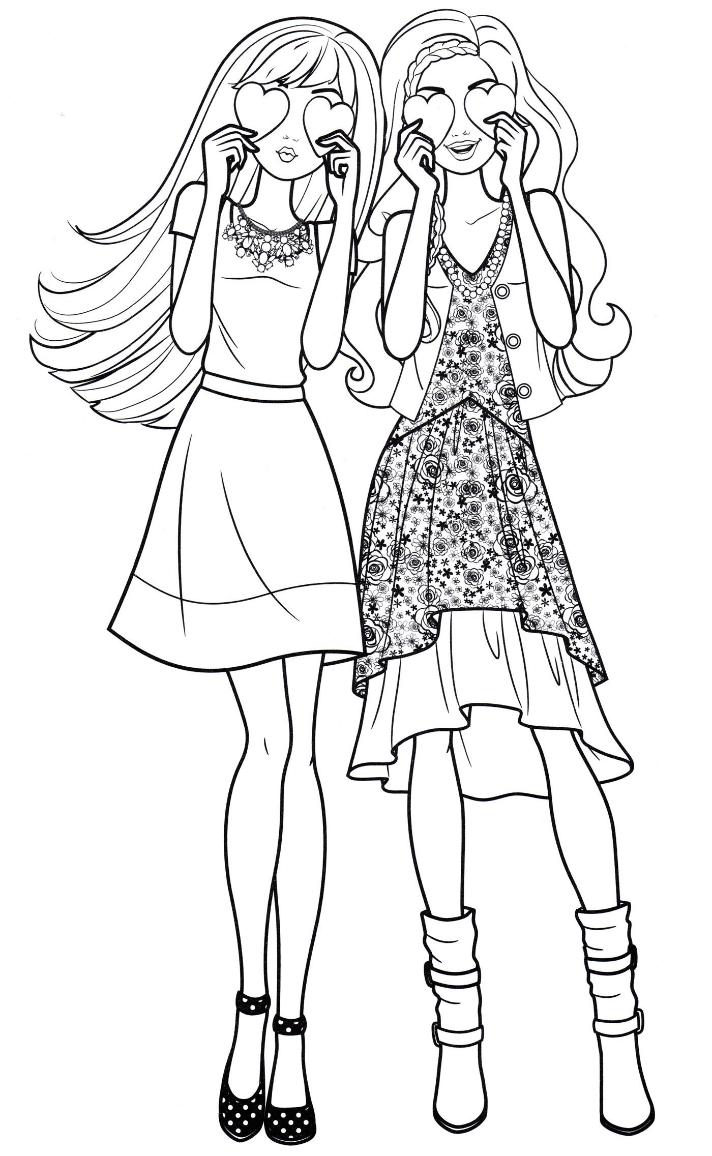 Раскраска Барби в капюшоне, распечатать бесплатно или скачать