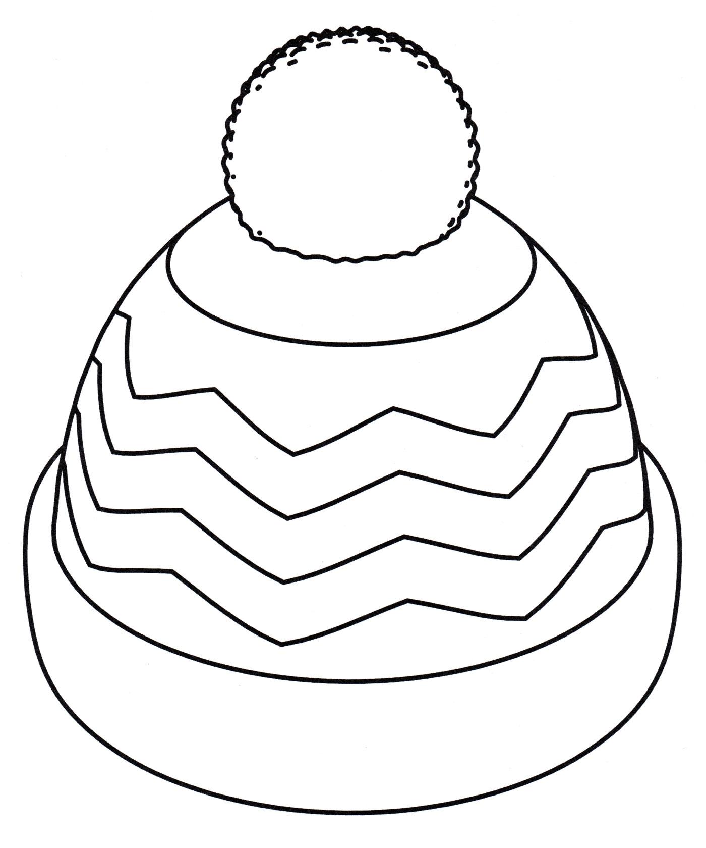 Раскраска Шапка с бубоном