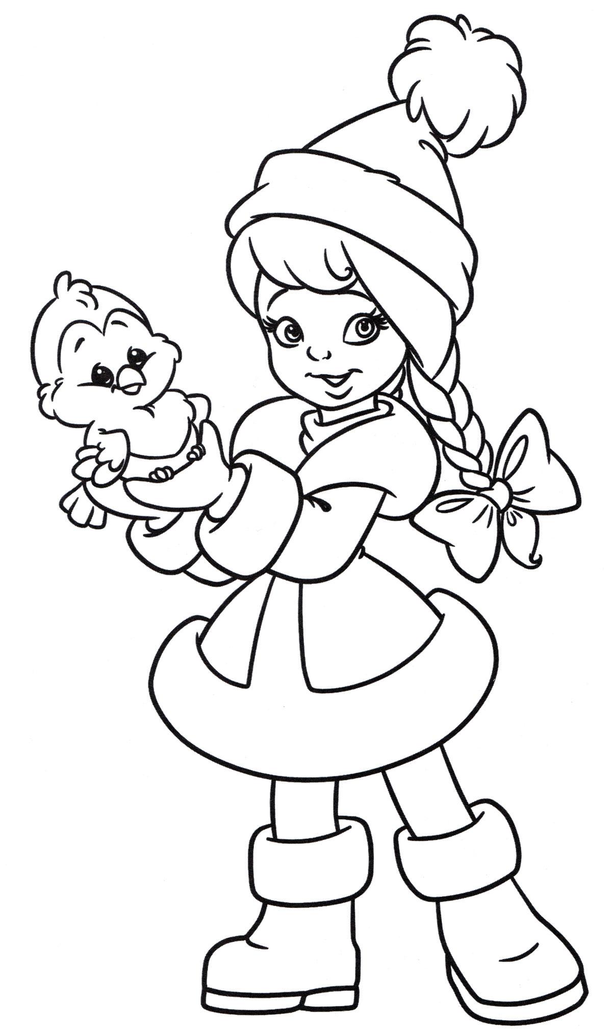 Раскраска Маленькая снегурочка
