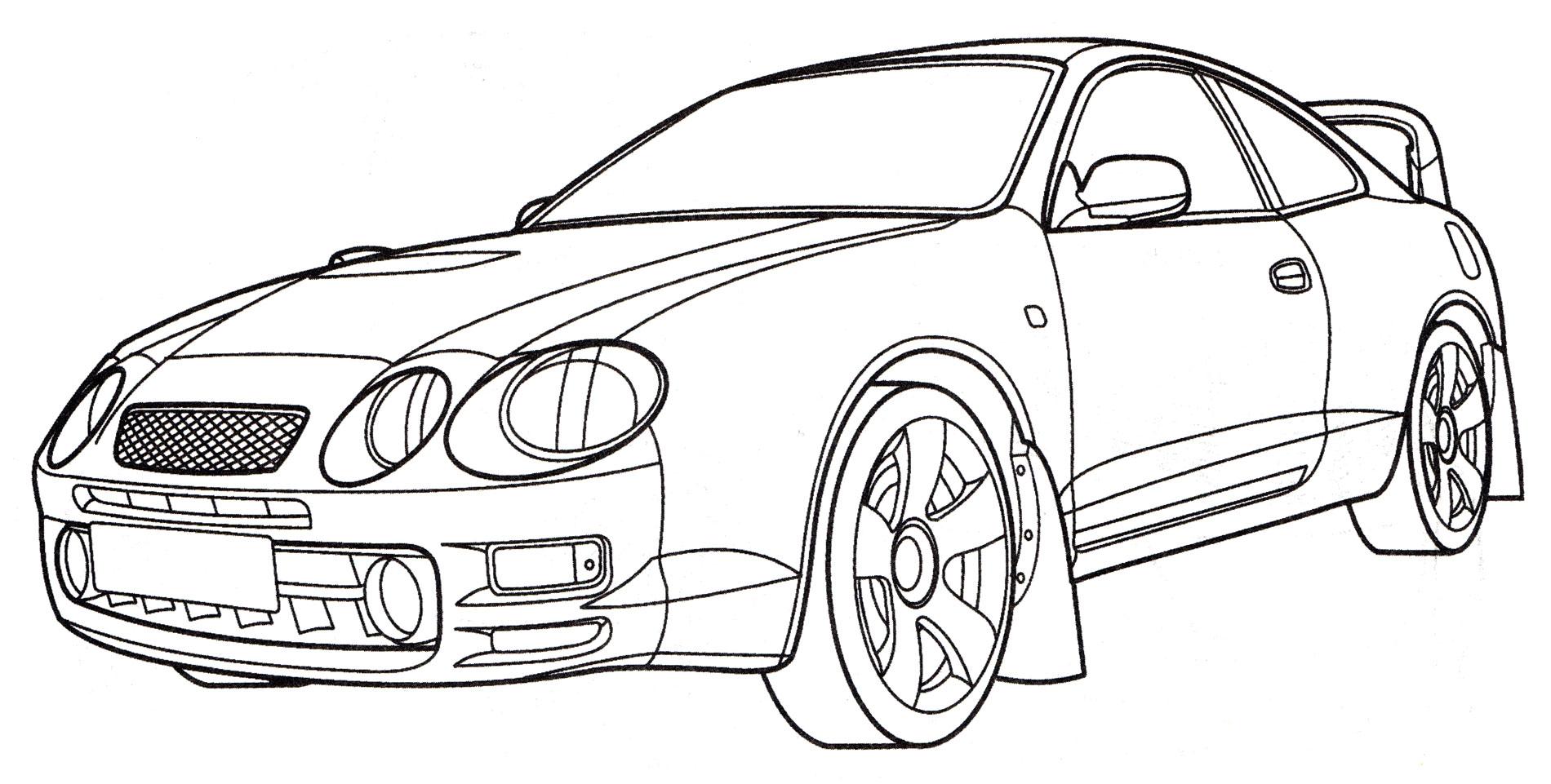 Раскраска тойота Celica, распечатать бесплатно или скачать