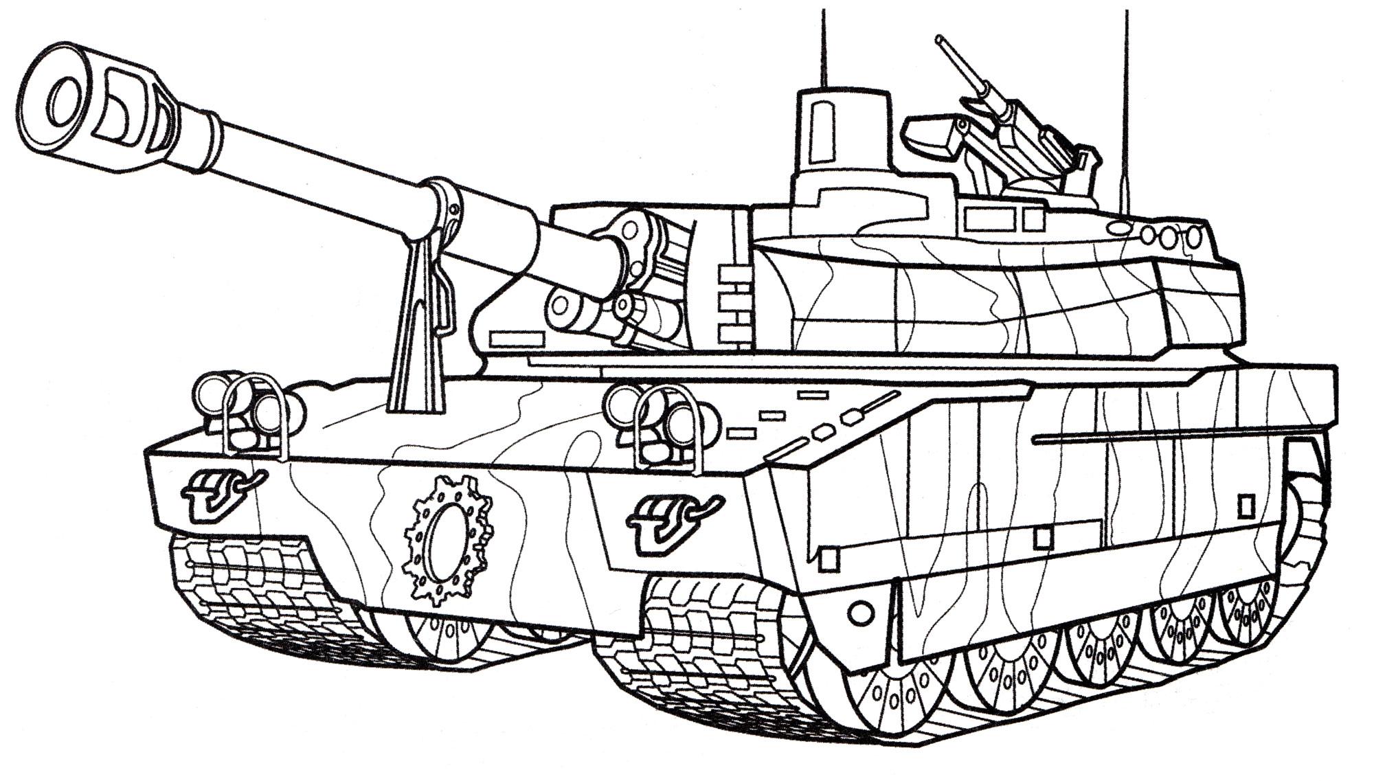 Раскраска Танк Leclerc, распечатать бесплатно или скачать