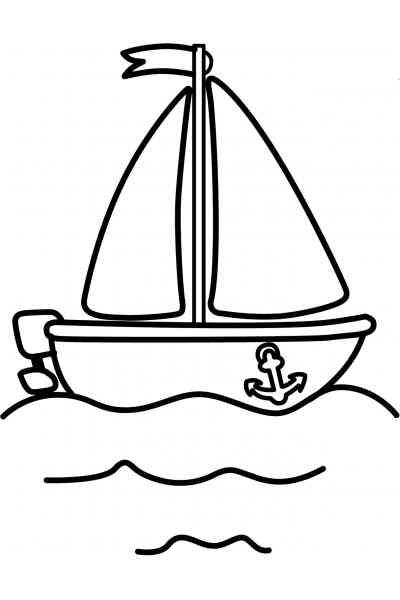Раскраска Кораблик, распечатать бесплатно или скачать