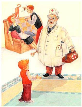 доктор пришел лечить мальчика