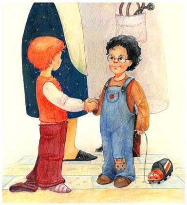 гости приходит маленький мальчик Коля