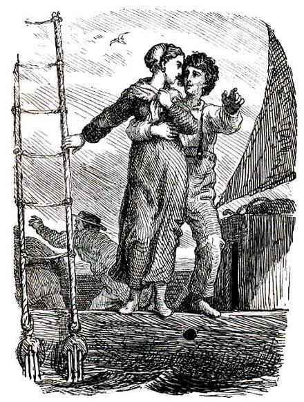 парень и девушка на краю коробля