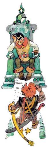 Урфин Джюс отдает распоряжения Энкин Фледу в тронном зале
