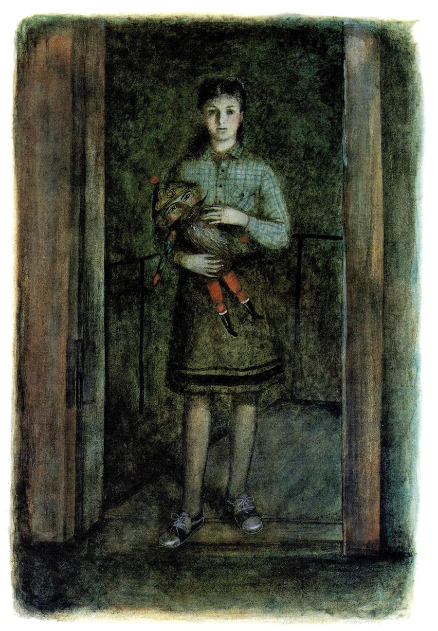 жена мастера прошептала, пропуская девочку в лавку