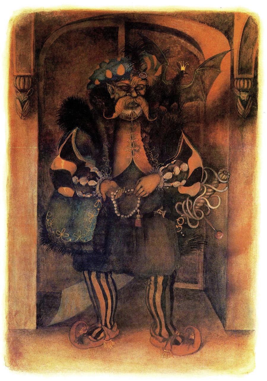 девочка Люба и солдат карабкаются по стене замка вверх