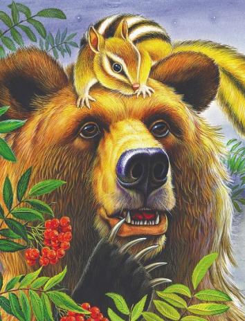 Кузяр-Бурундук и Инойка-Медведь, Сказка