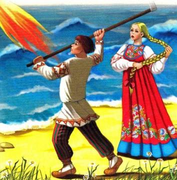 Сказка Марья-краса долгая коса, Русская народная сказка
