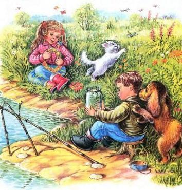 Сказка Как я ловил рыбу, Владимир Сутеев