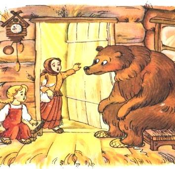 Медведь и три сестры, Сказка