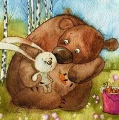Заяц и медвежонок, Сказка