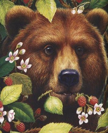 Как медведь сам себя напугал, Рассказ