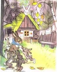 Зайка-траву поедайка и его семья, Сказка