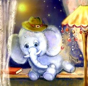 Сказка Колыбельная сказка про слона, клоун Баниласка