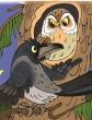 Сова и ворона