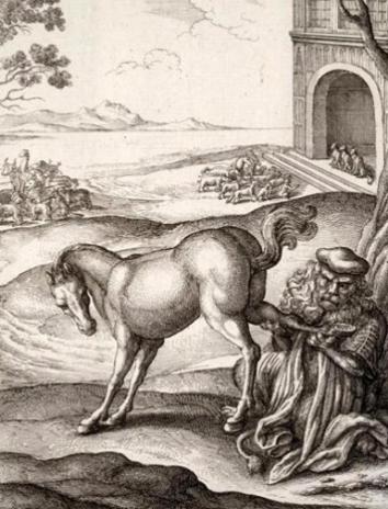 Сказка Лев и конь, Эзоп древнегреческий баснописец