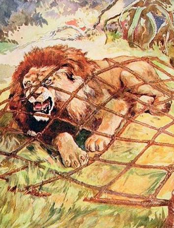 Сказка Лев и Человек, Крылов Иван