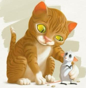Мышонок и кот, Сказка
