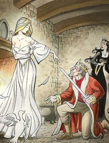 Белая и черная невеста, Сказка