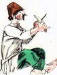 Дурак и нож, Басня