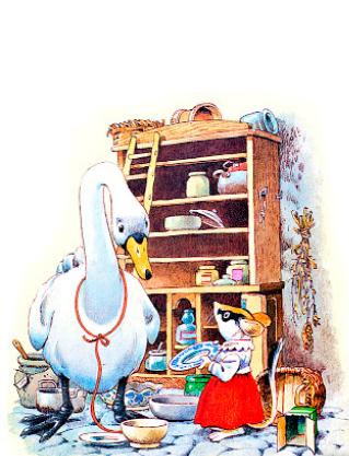 Очень большое яйцо, Сказка