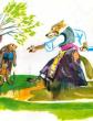Храбрый заяц и волчица, Сказка