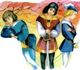 Три лентяя, Сказка