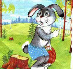 Находчивый заяц, Сказка