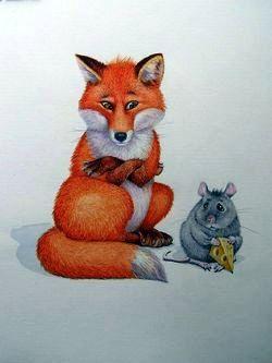 Мышка и лиса, Сказка