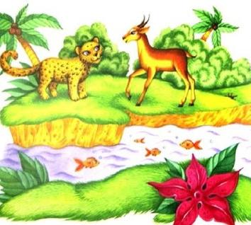 Леопард и антилопа, Сказка