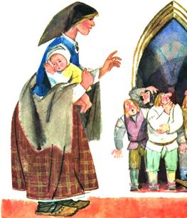 О мудрой жене, Сказка