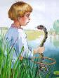 Мальчик и Змея, Басня