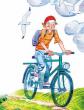 Велосипедист , Стих