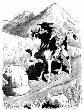 Сказка Три друга, Казахская сказка