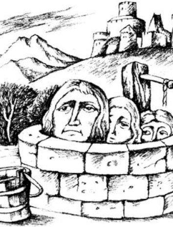 Сказка Три головы в колодце, Английская народная сказка