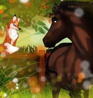 Сказка Лиса и лошадь, Братья Гримм